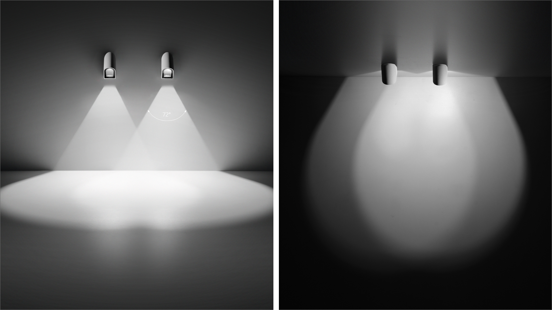 Petit step-light light in rounded petal shape